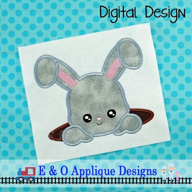 Bunny Hole Applique Design
