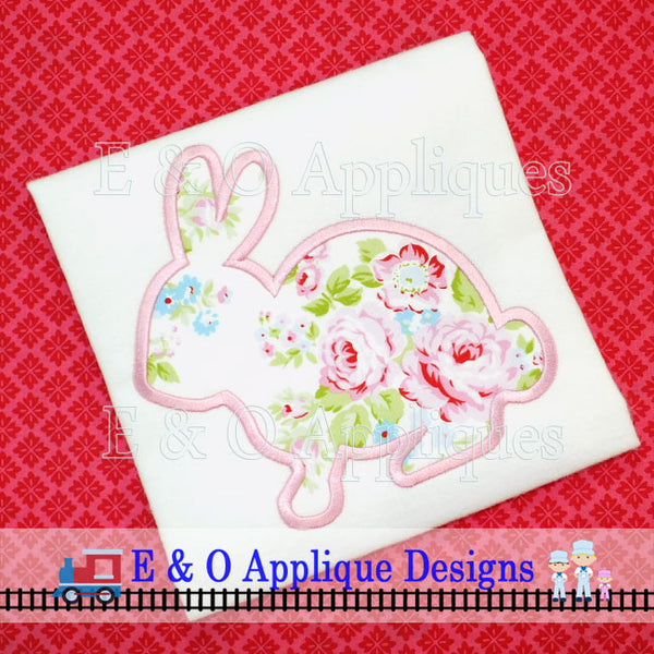 Bunny Silhouette Digital Applique Design