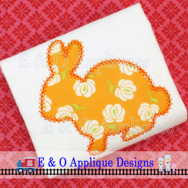 Bunny Silhouette Vintage Digital Applique Design