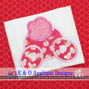 Bunny Tail Digital Applique Design