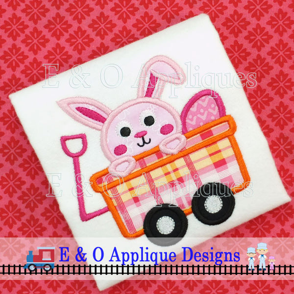 Bunny Wagon Digital Applique Design