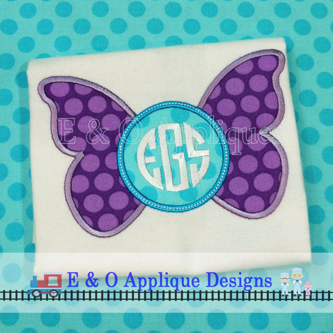 Butterfly Monogram Applique Design