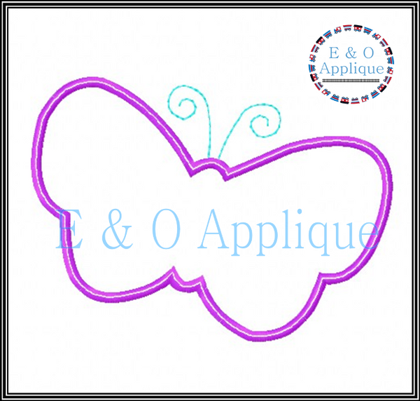 Butterfly Silhouette Applique Design
