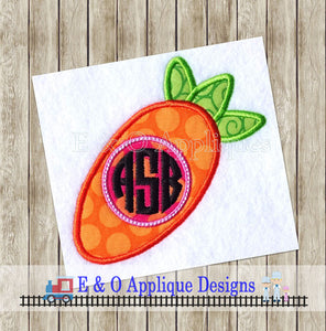Carrot Monogram Applique Design