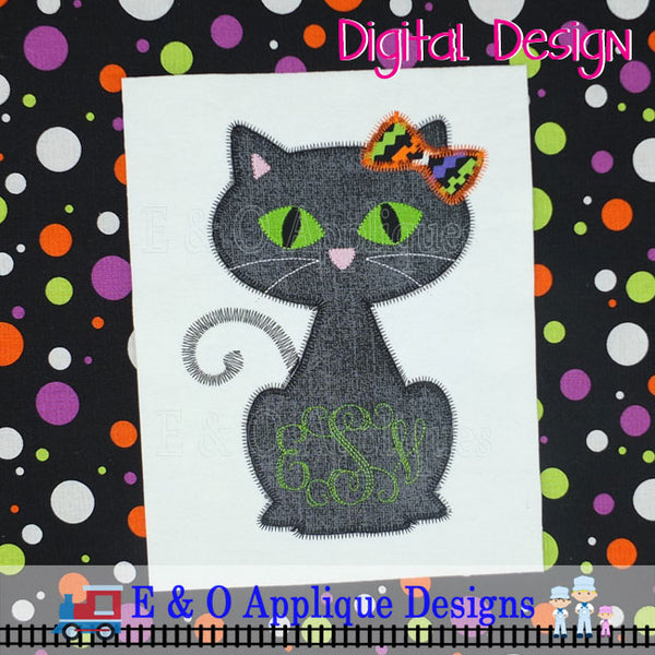 Cat Girl Zig Zag Applique Design