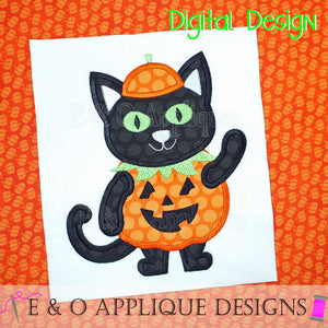 Cat Pumpkin Costume Applique Design
