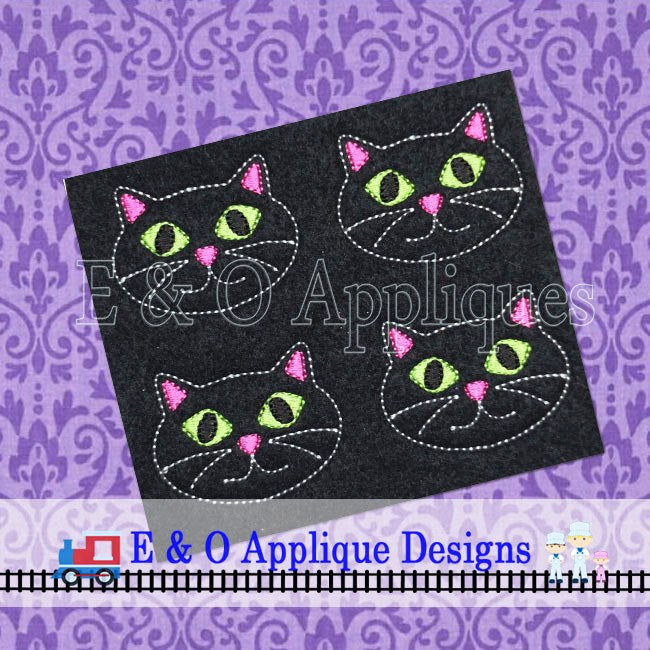 Cat Feltie In The Hoop Embroidery Design