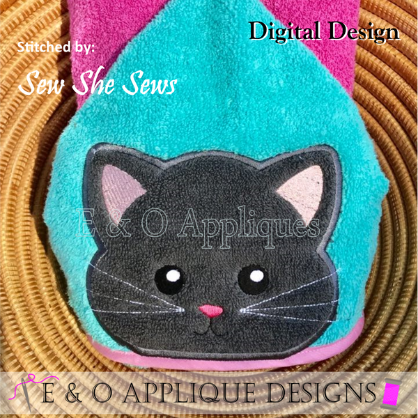 Cat Peeker Applique Design
