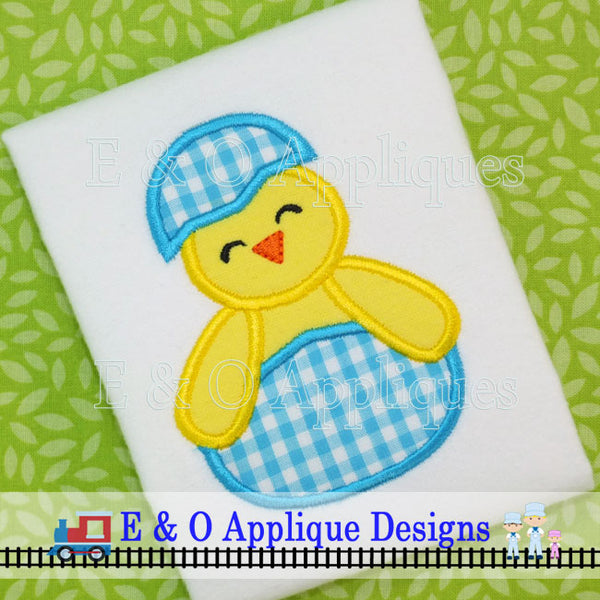 Chick in Easter Egg Digital Applique Design