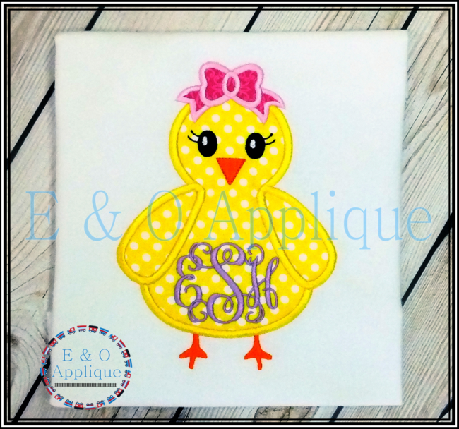 Chick Girl Applique