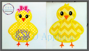 Chick Applique Set - Boy & Girl