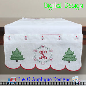 ITH Table Runner - Christmas Monogram 200 x 360 Hoop