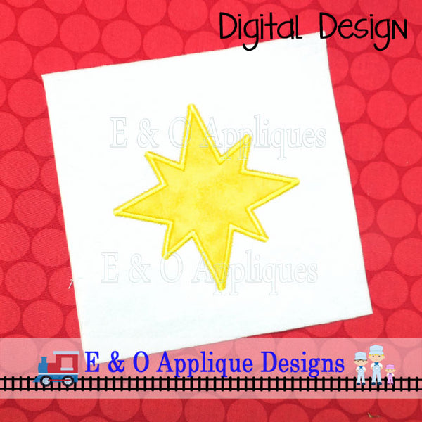 Christmas Star Applique Design