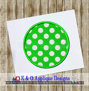 Circle Satin Stitch with Bean Stitch Applique Design
