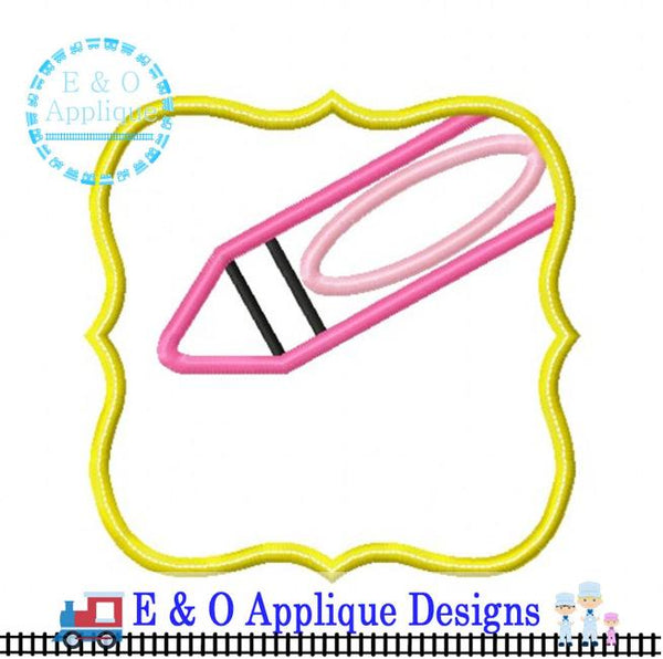 Crayon Frame Digital Applique Design