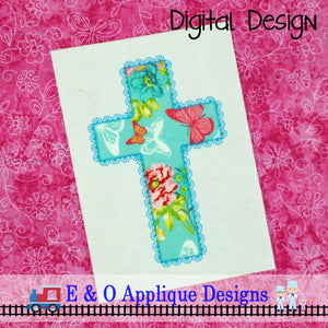 Cross Lace Applique Design