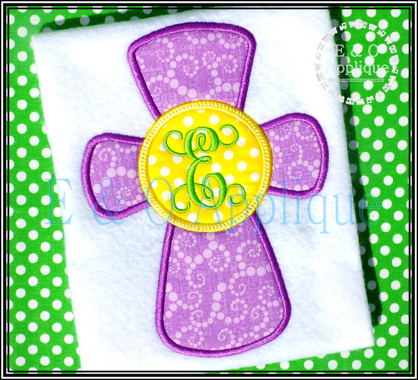 Cross Monogram Applique Design