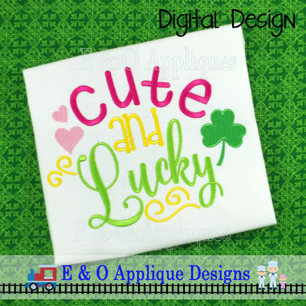 Cute and Lucky Embroidery Design