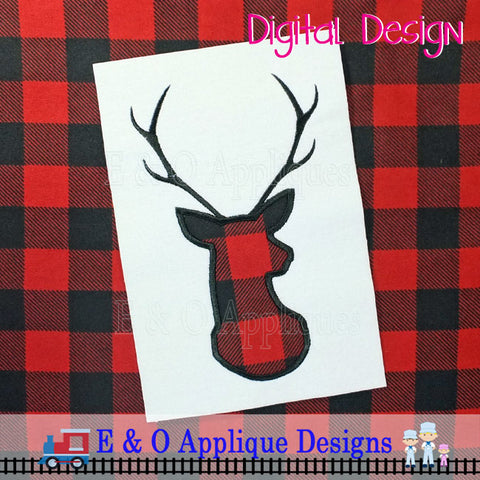 Deer Bust Applique Design