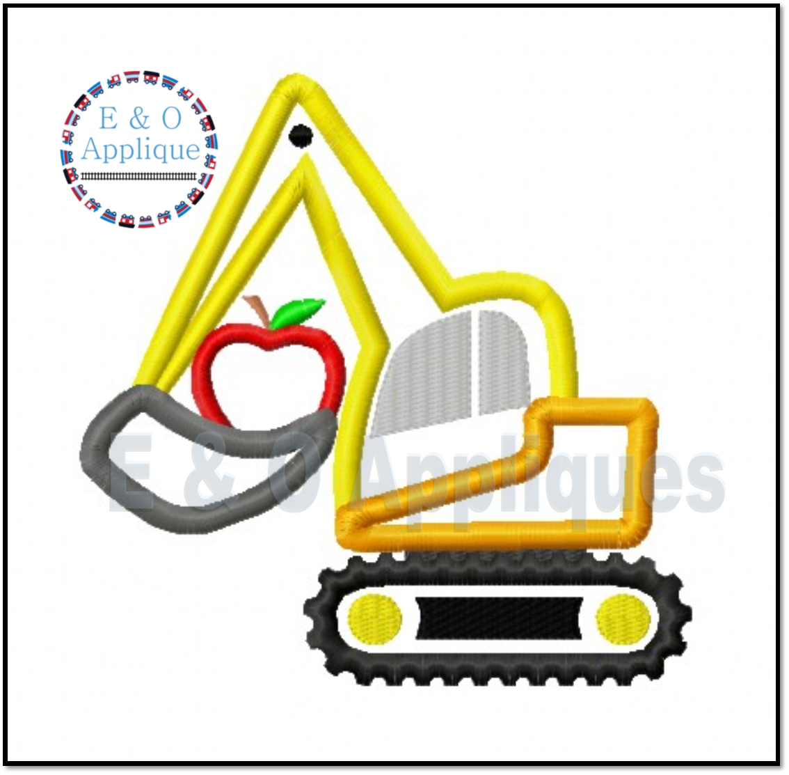 Digger Apple Applique