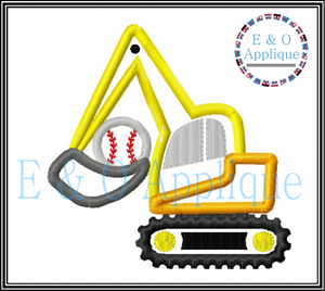 Digger Baseball Applique Design