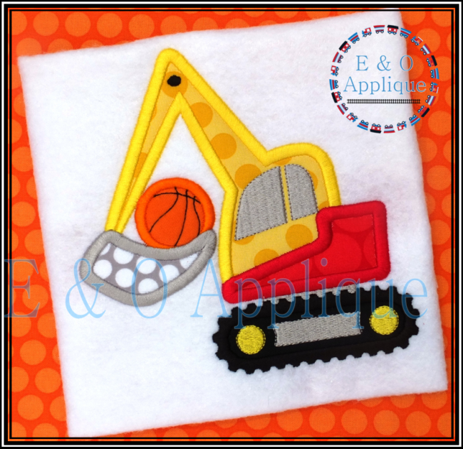 Digger Basketball Applique