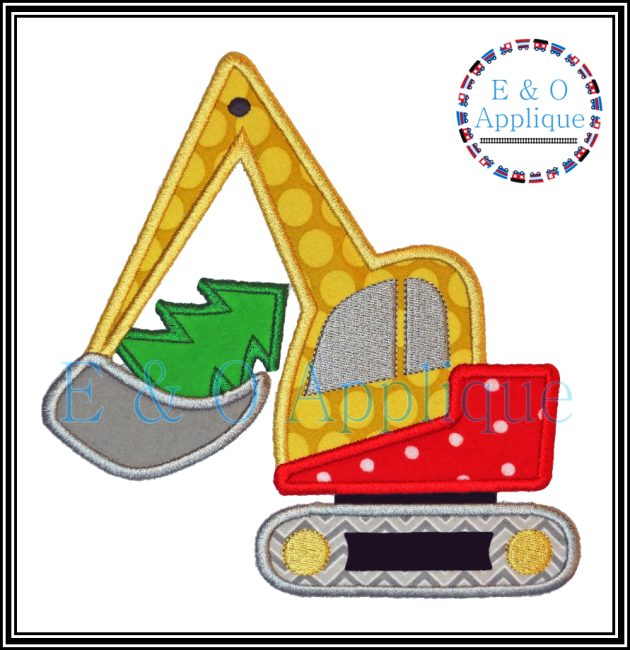 Digger Tree Applique Design