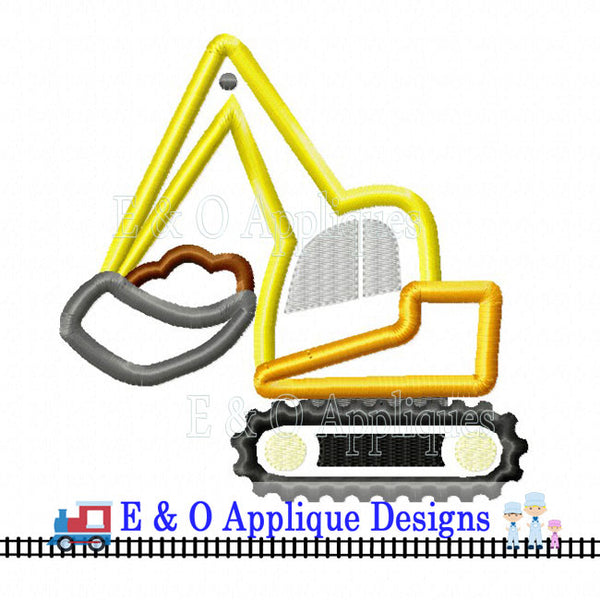 Digger Dirt Digital Applique Design