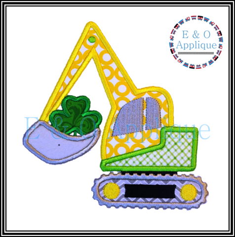 Digger St Patrick's Applique Design