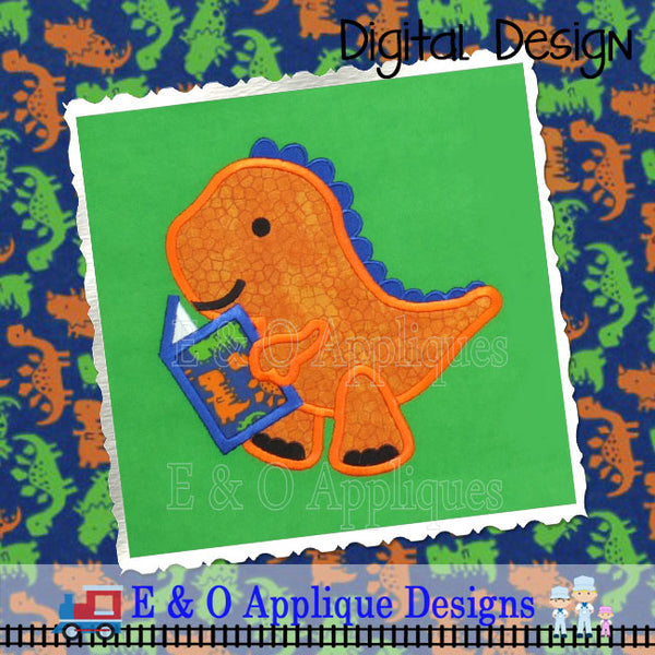 Dinosaur Book Applique Design