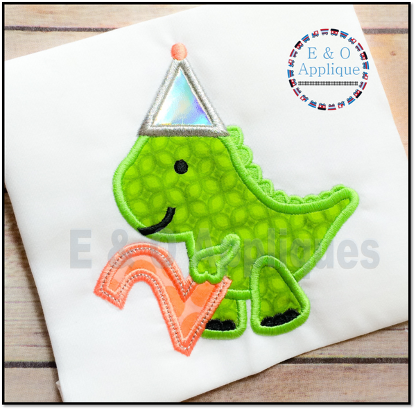 Dino Birthday 2 Applique Design
