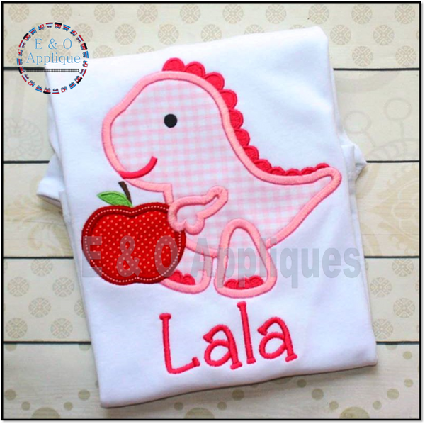 Dino Apple Applique Design