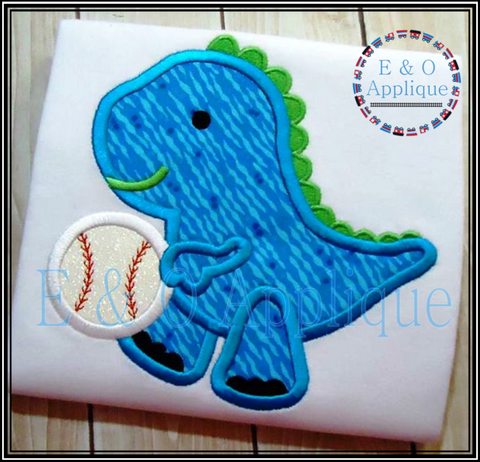 Dino Baseball Applique