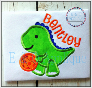Dino Basketball Applique