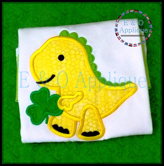 Dino St Patricks Applique