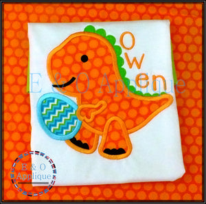 Dino Easter Egg Applique