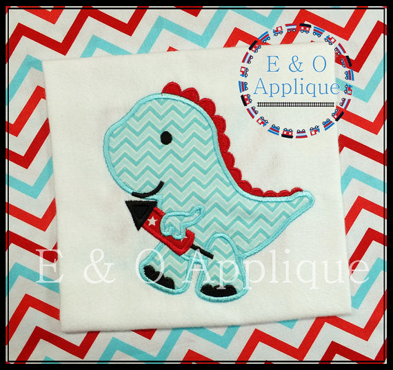 Dino Firecracker Applique