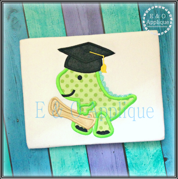 Dino Graduation Applique Design
