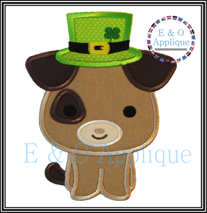 St Patricks Dog Applique