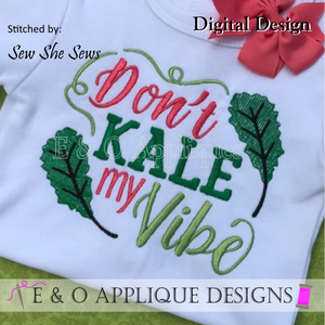 Kale Kitchen Towel Embroidery Design