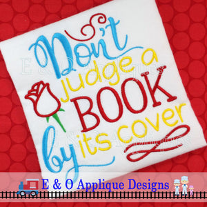 Don't Judge a Book Digital Embroidery Design