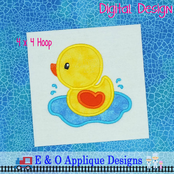 Duck in Water Applique