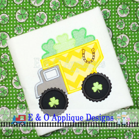 Dump Truck Clovers Digital Applique Design