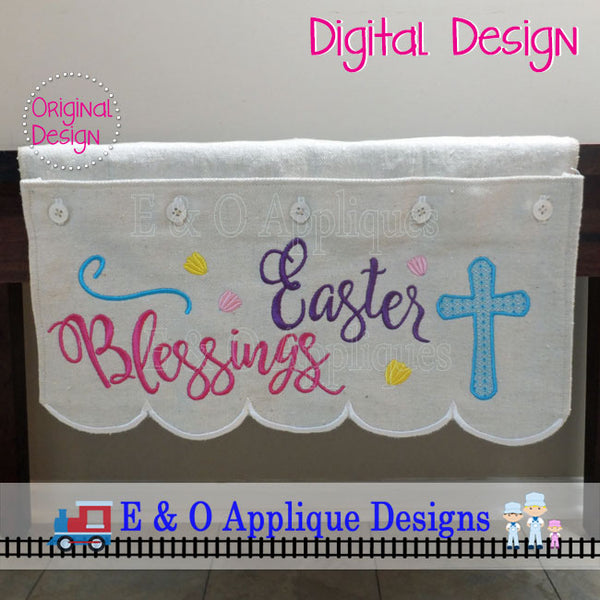 In The Hoop Table Runner - Easter Blessings 200 x 360 Hoop