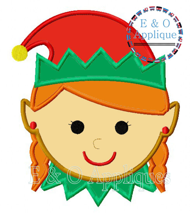 Elf Girl Applique Design
