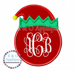 Elf Monogram Frame Applique Design