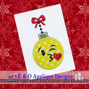 Emoji Kiss Ornament Digital Applique Design