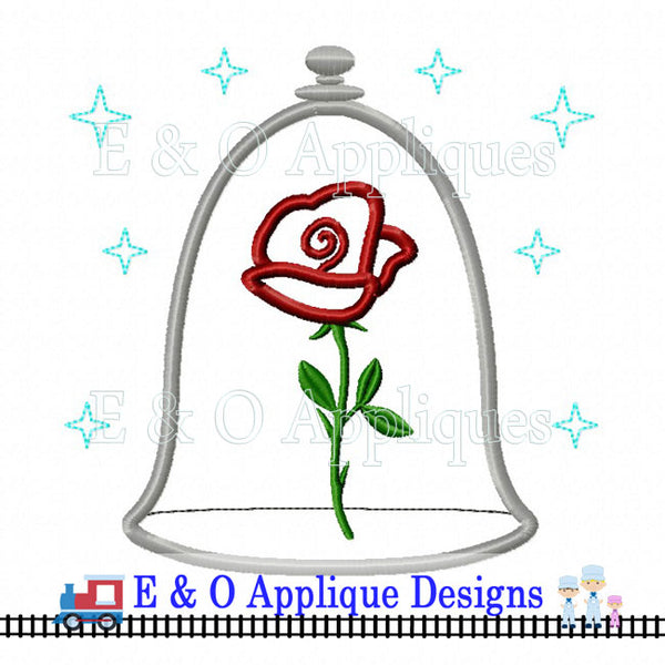 Enchanted Rose Digital Applique Design