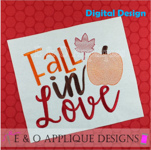 Fall In Love Motif Fill Embroidery Design