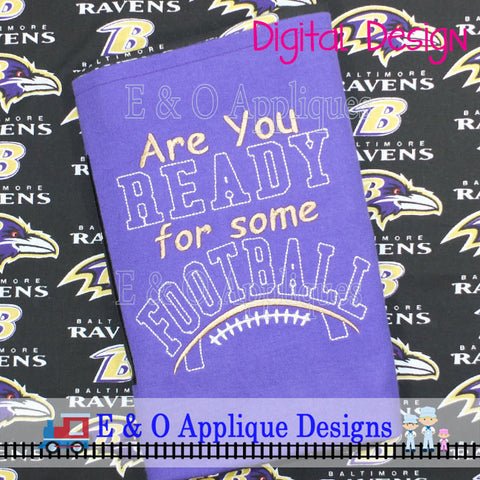 Football Saying Embroidery Design